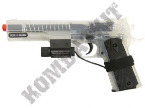 1911 BB Gun | COLT Official Airsoft Spring Pistol Clear 2 Tone | KOMBATKIT SHOP